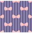 Seamless pastel pink bows stripes blue background vector image