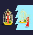 marriage golden cage concept