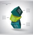abstract composition 3d cubes vector image vector image