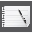 abstract list blanc with pen vector image