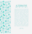 alternative medicine concept vector image vector image