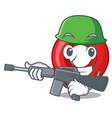 army gps navigation pin on character cartoon vector image