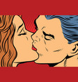 beautiful man and woman kissing couple love vector image
