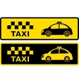 black and yellow retro taxi symbol vector image vector image