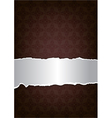 Brown decorative background vector image vector image
