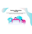 business young people work vector image