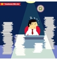 Businessman sleeping at the desk vector image vector image