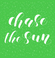 chase the sun lettering vector image