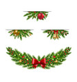 christmas garland collection white background vector image vector image