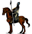 clip art of an armored knight vector image