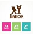 dance icon vector image