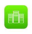 database servers icon digital green vector image vector image