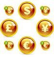 dollar euro yen and pound vector image vector image