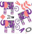 elephants abstract kids seamless pattern it is vector image