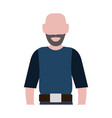 faceless man adult vector image vector image