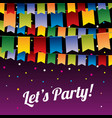 festive party background with hanging vector image