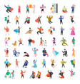 flat people characters collection man and woman vector image vector image