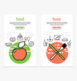 food vertical banners vector image
