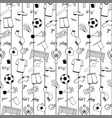 football doodle striped seamless pattern vector image vector image