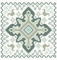 geometrical ornament in the hungarian style vector image vector image