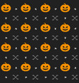 halloween background with pumpkins seamless vector image vector image