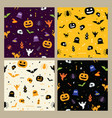halloween pattern seamless background vector image vector image