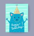 happy birthday congratulation vector image vector image