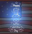 independence day greeting card style vector image vector image