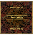 invitation card with quince apples vector image vector image