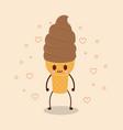 kawaii ice creams design vector image vector image