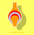 knee joint health care icon sticker vector image vector image