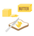knife spreading butter or margarine vector image vector image