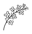 lilac floral hand drawn design sign vector image vector image