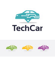 logo of technology car vector image vector image