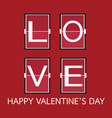 love font on mechanical panel letters typography vector image