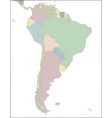 map south america continent with countries vector image vector image