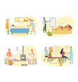 medical procedure bee therapy hot bath or sauna vector image vector image