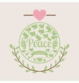 message og peace design vector image vector image