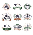 Mining Industry Emblems Set vector image vector image