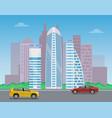 modern city landscape color vector image vector image