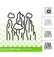 mountain simple high mount black line icon vector image vector image