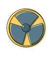 nuclear danger symbol cartoon vector image