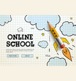 online school digital internet tutorials and vector image vector image