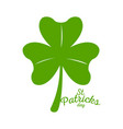 patrick day clover with text vector image