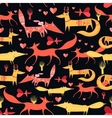 pattern foxes vector image