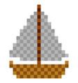 pixelated ship icon vector image