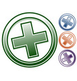 plus x icon in 4 color plus x clip-art symbol vector image