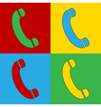 Pop art phone icons vector image vector image