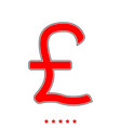 pound sterling it is icon vector image vector image