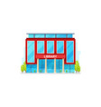 public library isolated building facade exterior vector image vector image